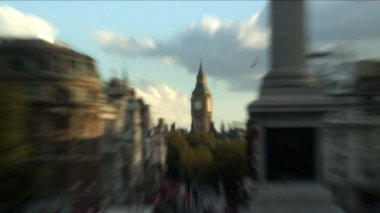 Trafalgar Square in London — Stock Video