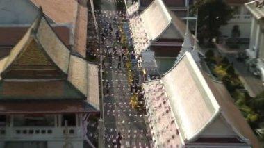 Traditional City street in Bangkok — Stock Video