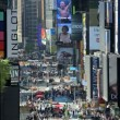 Times Square New York with billboards neon lights and Illuminated signs, USA — Stock Video #62037229