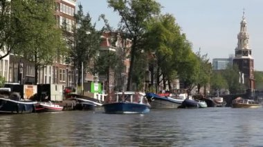 Amsterdams canal traffic — Wideo stockowe