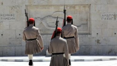 Changing of the Evzone Ceremonial guards — Stok video