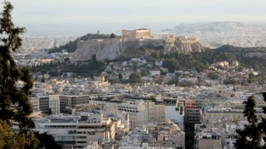 The City of Athens with the Acropolis — Stock Video