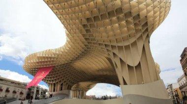Metropol Parasol Sevilla — Stok video