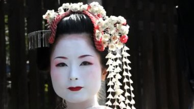 Beautiful Japanese Geisha — Stock Video