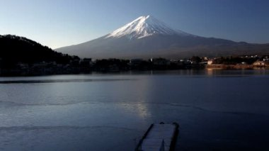Beautiful view of Mountaint Fuji — Vídeo stock