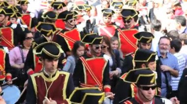Parade of Bandsmen — Stock Video