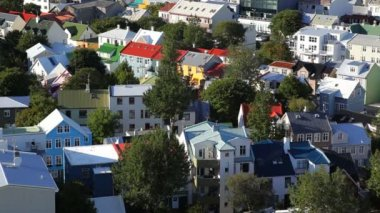Town houses  in Reykjavik — Stock Video