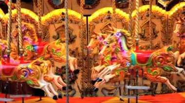 Fairground Carousel — Stock Video