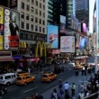 People traffic and billboards of Times Square, New York, USA — Stock Video #62045503