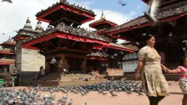 Durbar square in Bhaktapur Nepal — Stock Video