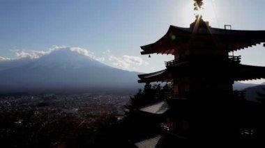 Panoramic view of Mountain Fuji — Stock Video