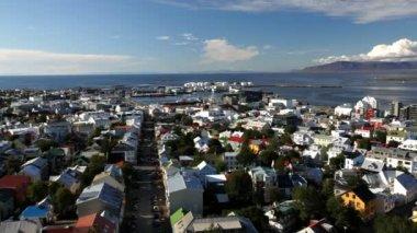 Reykjavik cit — Stock Video