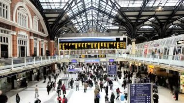 Commercial traffic at national rail station — Stock Video
