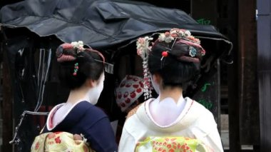 Japanese Geisha girls — Stock Video
