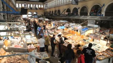 Central Fish Market in Athens — Stock Video