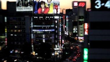 Gatan på natten i Japan — Stockvideo