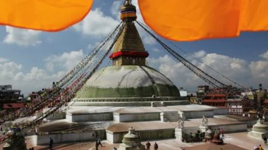 View of the Boudhanath Stupa — Stock Video