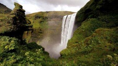 Skogafoss waterfall — Stock Video