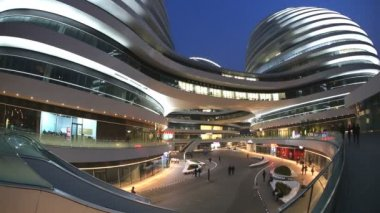 Galaxy Soho Shopping Mall Beijing China — 图库视频影像