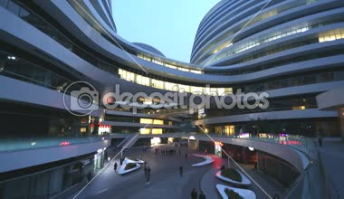 Galaxy Soho Shopping Mall Beijing — Stock Video