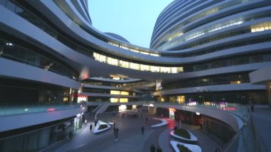 Galaxy Soho Shopping Mall Beijing — Stockvideo