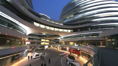 Galaxy Soho Shopping Mall Beijing China — Stockvideo