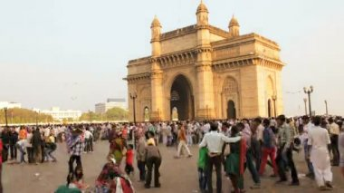 Gateway of India monument — Stock Video