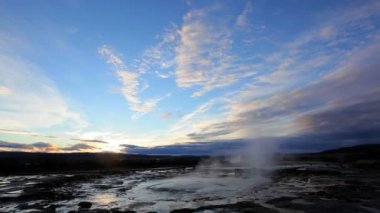 View of erupting Geyser — Stock Video
