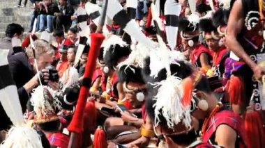 Hornbill festival in India — Stock Video