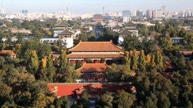 View of  distant Beijing City — Stock Video