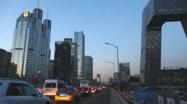 Beijing Central Business district — Vídeo de Stock