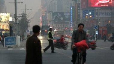 Wangfujing shopping street central Beijing — Stock Video