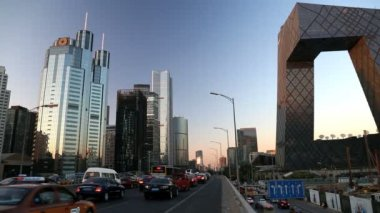 Beijing Central Business district — ストックビデオ
