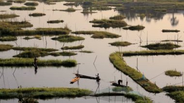 Workers at Loktak Lake — ストックビデオ