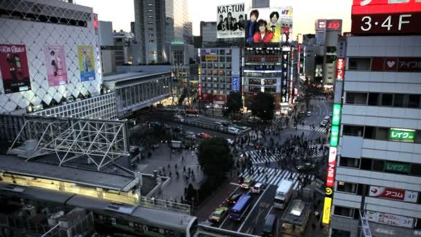 Shibuya district in Tokyo — Vidéo