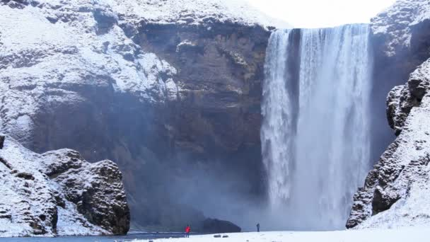 Natural waterfall in Iceland — Vidéo