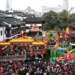 People visiting Yuyuan Garden and shopping area — Stock Video #62056387
