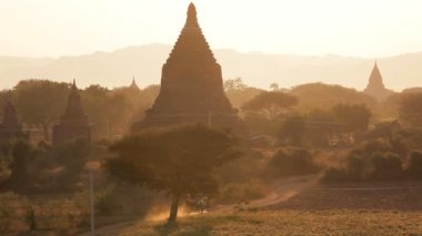 Temples and Pagodas nr dusty roads — Stockvideo