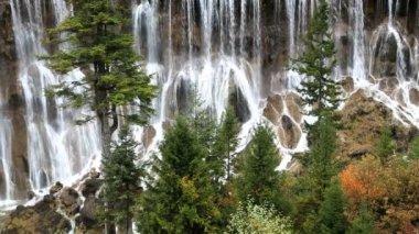 Nuorilang Waterfall Jiuzhaigou National Park — Stock Video
