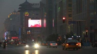 Wangfujing shopping street — Stock Video