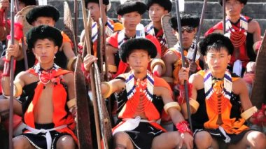 Chakhesang tribe the Hornbill festival — Stock Video