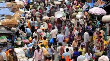 Mullikghat Flower Market — Stock Video