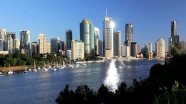 The modern city of Brisbane — Stock Video