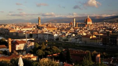 Magnificent elevated city view of  Duomo Cathedral — Stock Video