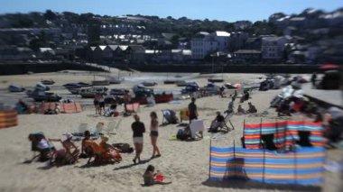 View at low tide St Michaels Mount — Vidéo