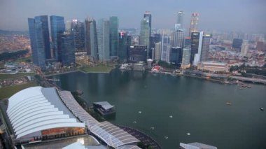 City Skyline view across Marina Bay — Stock Video