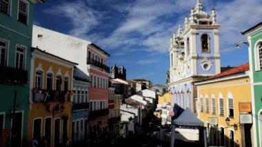 Pelourinho Historical center — Stock Video