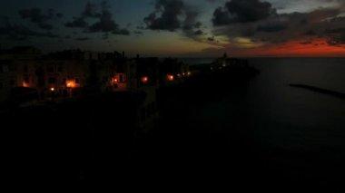 Vieste town sunrise — Stock Video