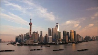 Shanghai city skyline — Stock Video