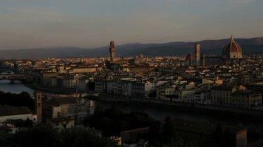 Sunrise Ponte Vecchio Bridge — Stock Video